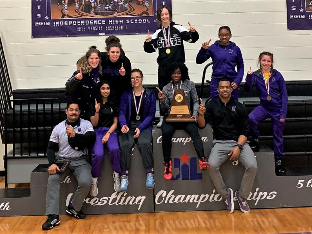 Image for Independence Girls Wrestling Team Wins Regional Title