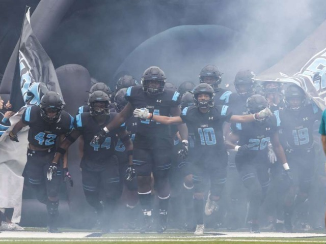 Sharks' waves crush Galveston Ball, 59-16