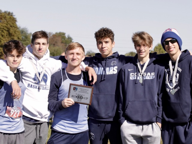 Varsity Boys Cross Country brings home the first ever team finish award from the Springdale Invitational.