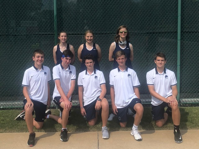 Tennis opened the season vs Haas Hall of Bentonville