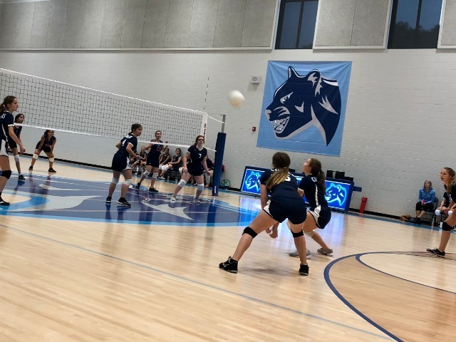 Volleyball wins thrilling 3 game match vs St. Joseph Catholic School