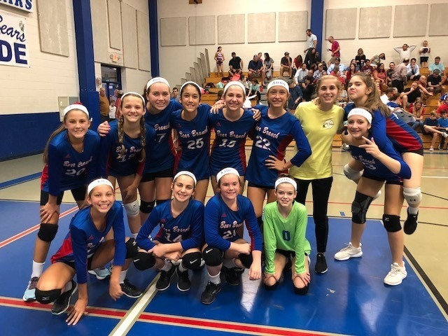 7th Grade B Volleyball takes down Creekside Park