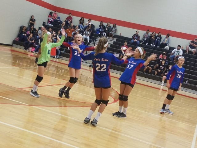 7th Grade B Team Volleyball wins in TWO!!!  Gets the SWEEP started!!!