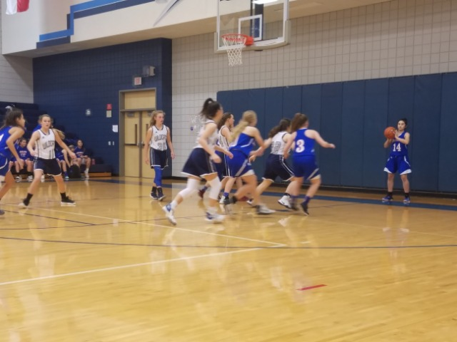 Lady Bears 8th grade A team comes up short against Willow Wood