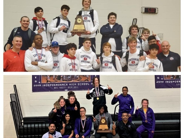 Centennial, Independence Win District Wrestling Titles