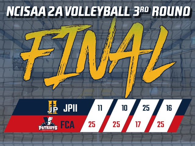 Volleyball Season Ends in 3rd Round of Playoffs