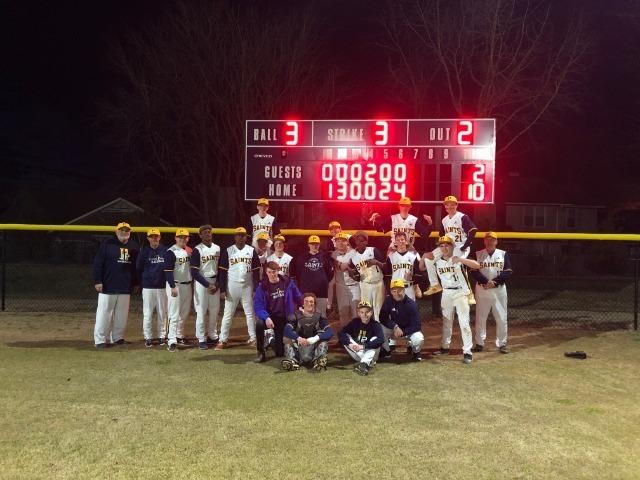 Baseball Opens Season with 10-2 Victory Over Wilson Prep