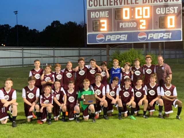 West Collierville Boys Soccer Wins Middle School Championship