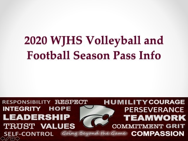 Season Pass Info (VB and FB 2020)
