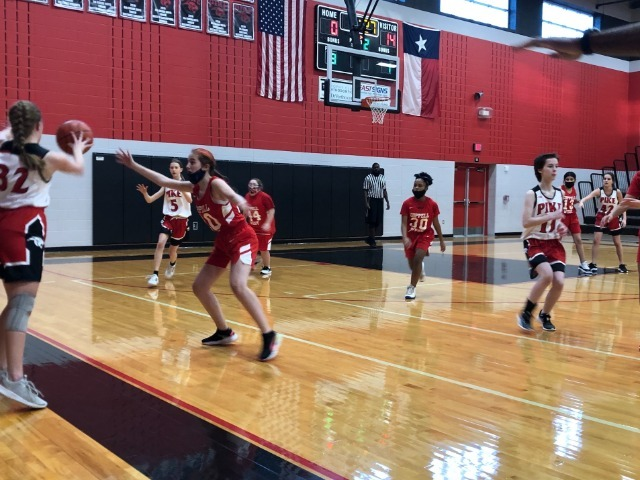 8th grade Lady Wranglers get the Win vs. Pike