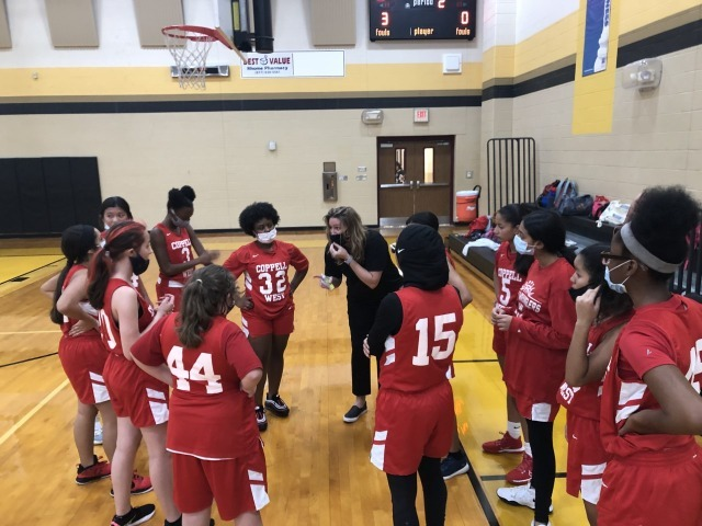 8th grade Lady Wranglers get the Win at Chisolm Trail
