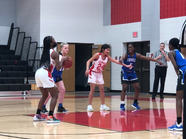 8th grade Lady Wranglers Win in OT against Tidwell