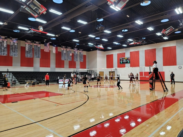 7th Grade Volleyball Battles Indian Springs