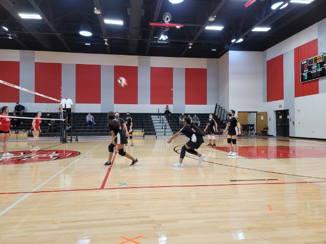 7th West Volleyball battles with the Cougars