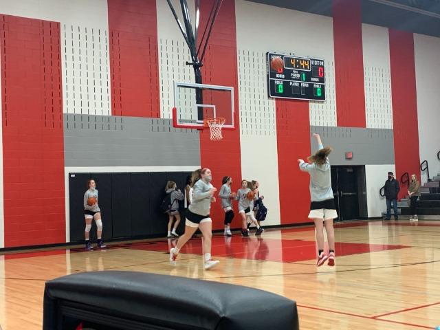 7th & 8th Grade Lady Broncos Take On Keller
