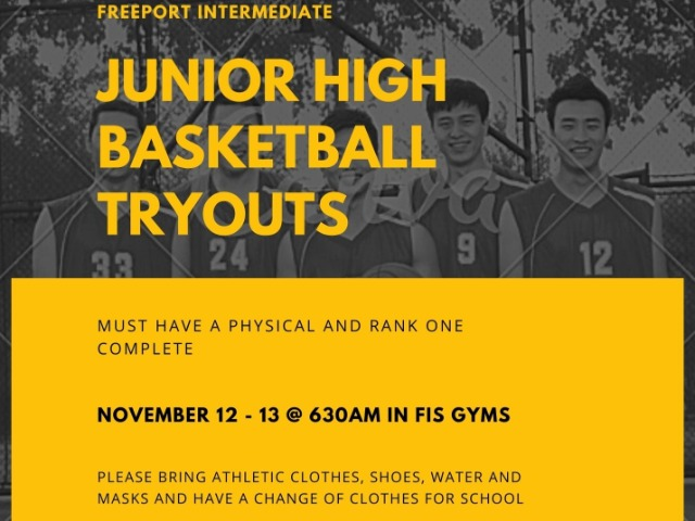 JR HIGH BASKETBALL TRYOUTS