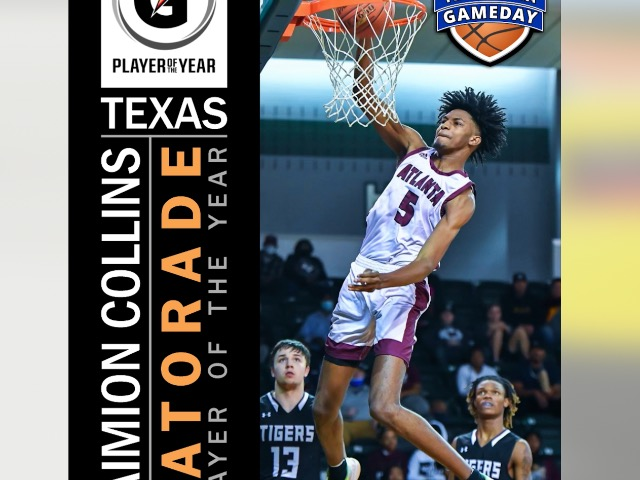 Image for Daimion Collins named Gatorade Player of the Year in Texas