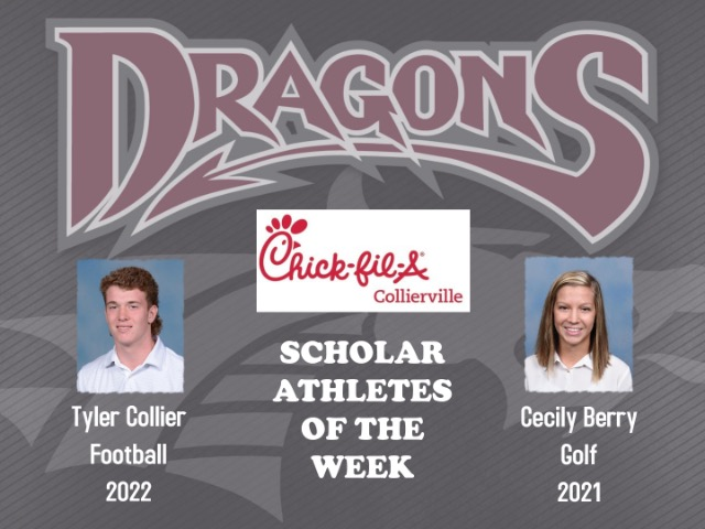 Tyler Collier and Cecily Berry Named Athletes of the Week
