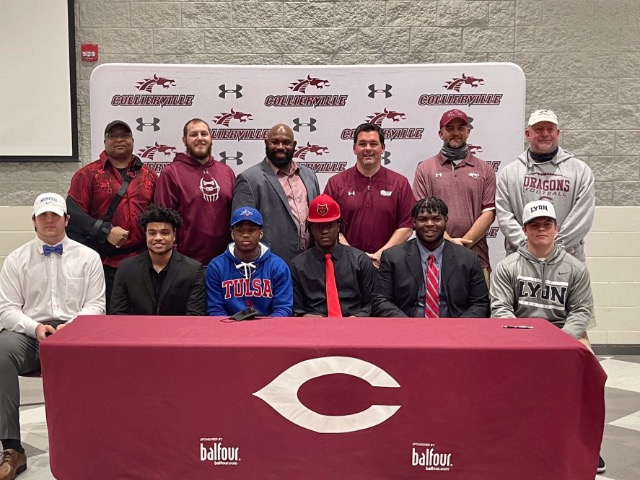 Six Senior Football Players Make College Plans Official