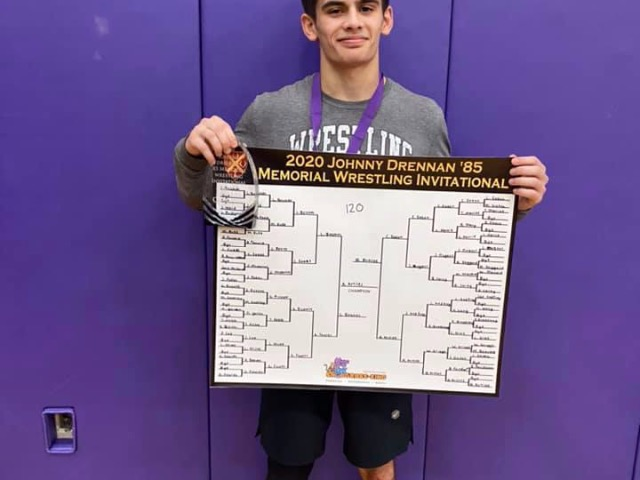 Artiles Takes Title at Johnny Drennan Memorial Wrestling Invitational