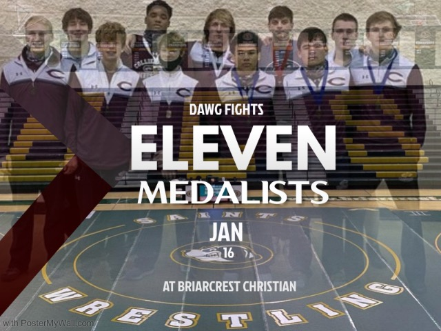 Collierville Wrestling Takes 2nd at Dawg Fights