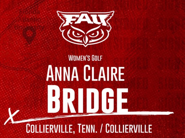 Collierville's Anna Claire Bridge Signs With Florida Atlantic