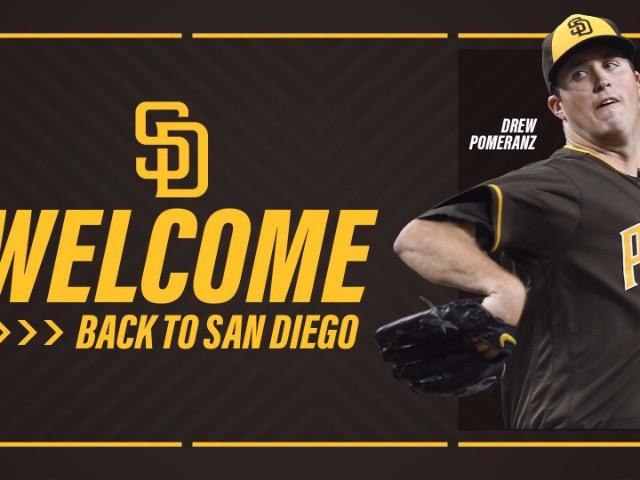 Former Dragon Drew Pomeranz Returning to San Diego Padres