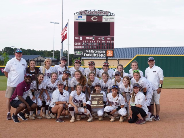DRAGONS DOWN MUSTANGS TO CAPTURE REGION SOFTBALL TITLE