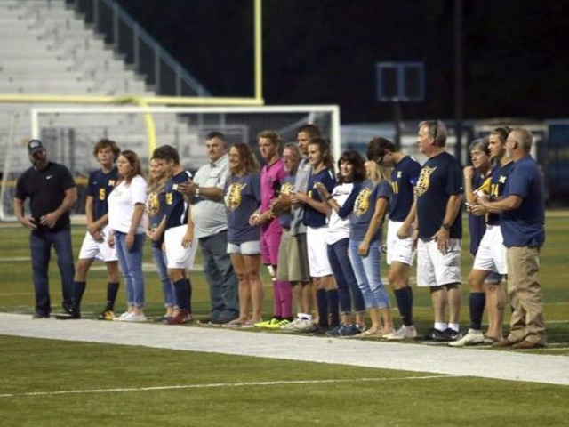 Marion soccer team rolls in final home match