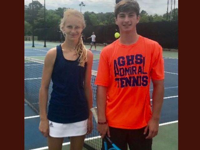 GHS Mixed Doubles team advance to the 6A finals in the MHSAA 6A Tennis Championships