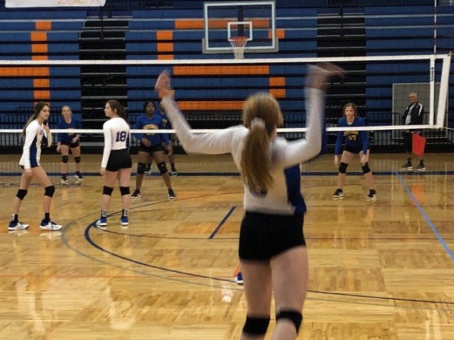 """GHS Volleyball racked up the first """"W"""" of the new school yea"""