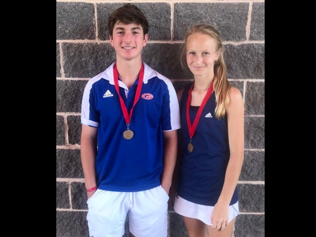 Region 8-6A Tennis championship in mixed doubles.