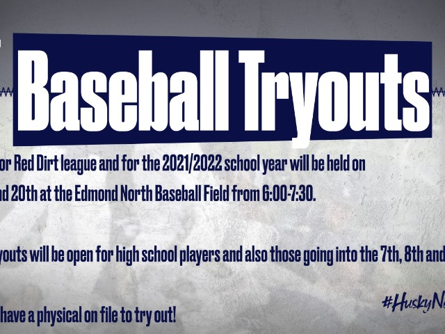 Baseball Tryout for Summer and 2021/2002 Season