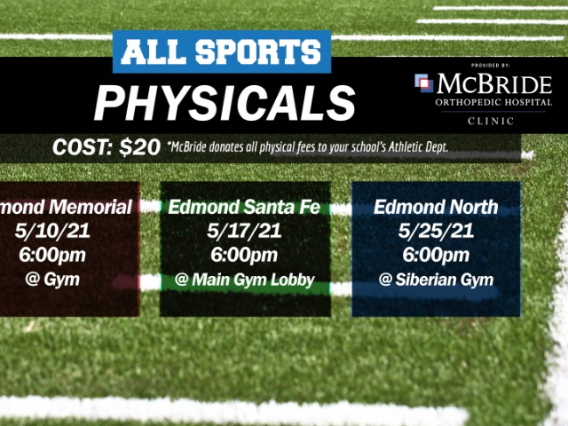 GET YOUR ALL-SPORTS PHYSICALS HERE!
