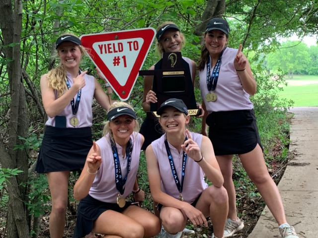 Image for Girls Golf Wins Back-2-Back State Titles
