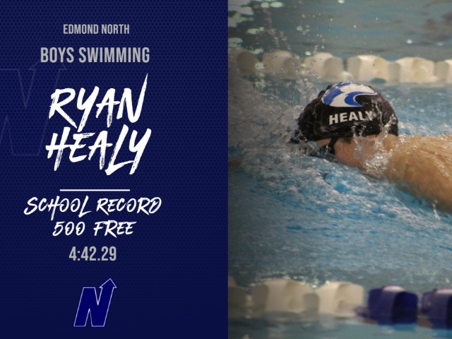 Healy Breaks School Record in 500 Free