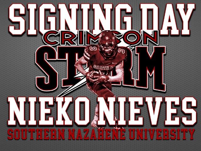 Nieko Nieves joins the Crimson Storm.