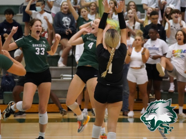 Image for Volleyball takes down Deer Creek in 4