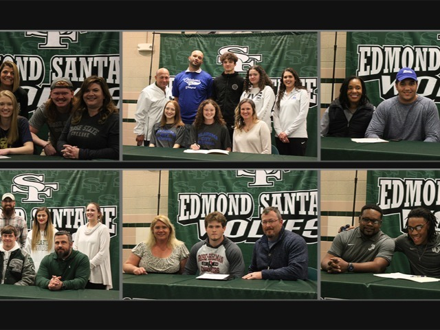 6 Senior athletes sign college letters of intent