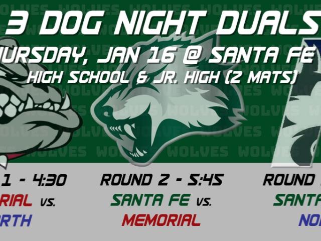 Wrestling: 3 Dog night all set to go!