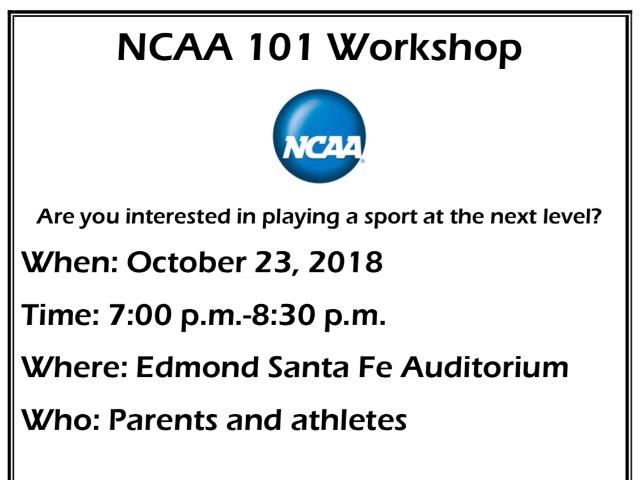 NCAA WORKSHOP Oct. 23rd
