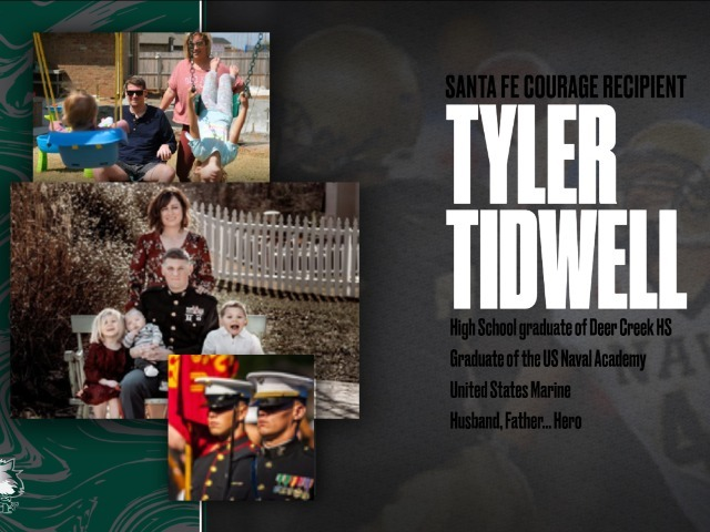 Image for Tyler Tidwell (SF Courage Recognition recipient): Antler, Marine, Family hero
