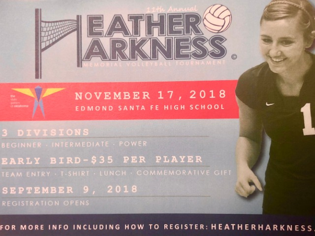 SIGN UP NOW ! HEATHER HARKNESS TOURN.