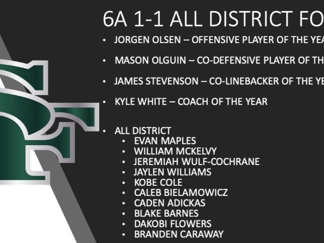 6A 1-1 All District Football Awards