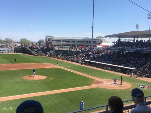 Wolves Arrive in Arizona, attend Spring Training Game