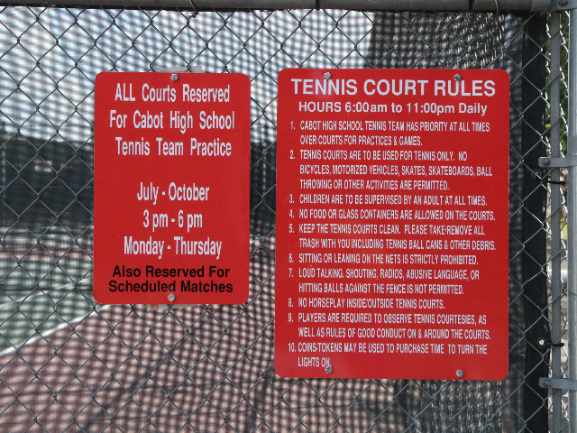 Tennis Court Rules 3