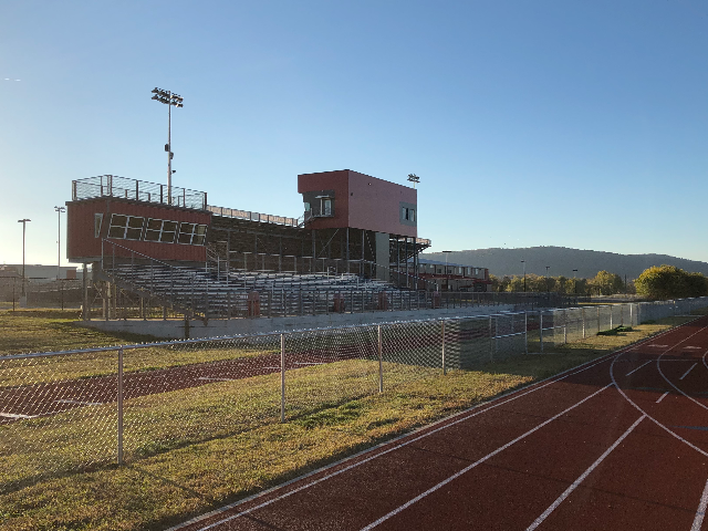 Track Bleachers and Press Box 2