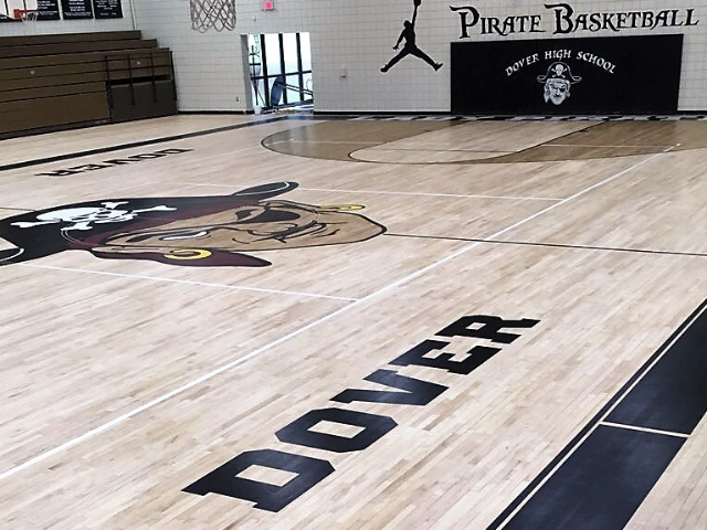 2018 Floor Renovation w/Pirate Logo 1