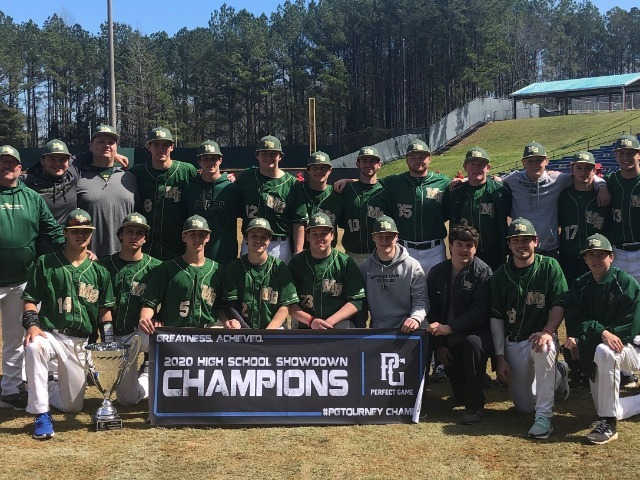 2020 Perfect Game High School Showdown Champions