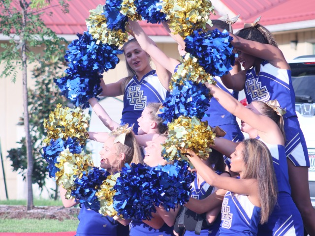 Cheer squad at the Stone Bank Pep Rally